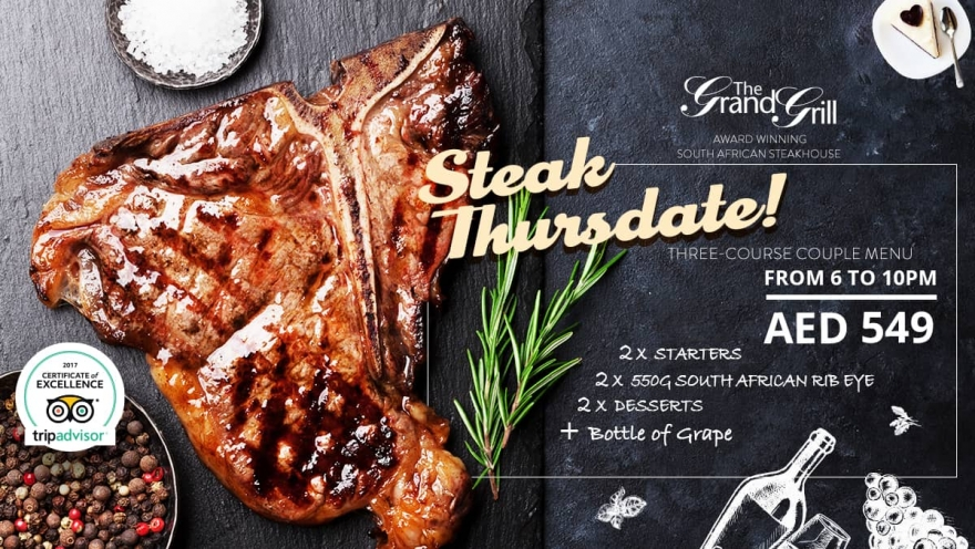 Steak Thursdate  From 6PM - 10PM