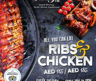 All You Can Eat Ribs 'n' Chicken Tuesdays