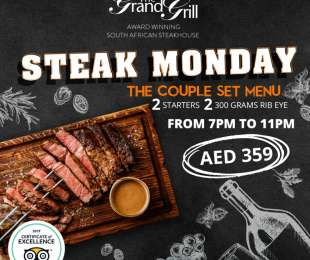 STEAK MONDAY - COUPLE SET MENU 6PM -10 PM