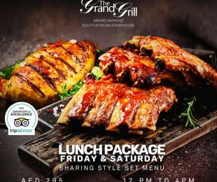 Lunch package Friday & Saturday 12 pm to 4 pm